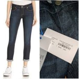 Paige Kylie Crop with Roll Up Tonal Duncan Size 32